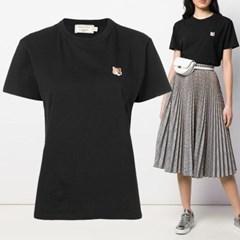 21FW 여성 폭스 패치 티셔츠 블랙 AW00103KJ0005 BK