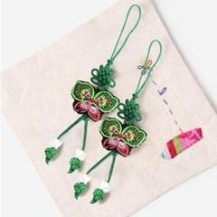 녹색 작은 나비 매듭끈 (3개)
