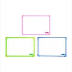 [블루마토] ABC초경량 화이트보드 (WBS007) 2세트(색상랜덤)