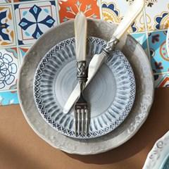포르투갈 수입 그릇 사각 접시 사이드 디너 접시 플레이트