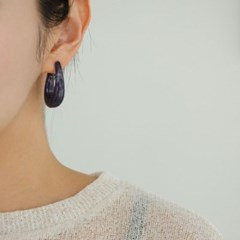 호마이카 링 베이지 데일리 패션 E1255 귀걸이