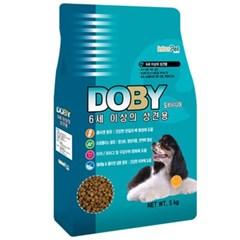 국산 강아지사료 도비 시니어 3kg 개사료 애견사료
