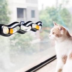 웨이브 트랙롤 고양이 롤링 장난감 롤링볼 반자동 터널 장난감