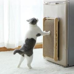 고양이 흡착형 수직 원목 스크래쳐 윈도우 스크래쳐 부착용