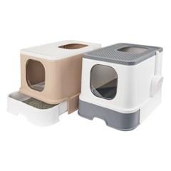 대형 슬라이드 고양이 화장실 평판 사막화방지 초대형 특대형