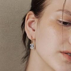 [웬디착용][silver925]Square Crystal earring