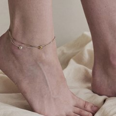 [silver925]Snake chain ball anklet