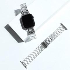 애플워치 투명 크리스탈 스트랩 루프 밴드 시계줄 44mm