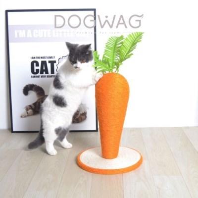 당근 수직 스크래쳐 고양이 스트래스 해소 발톱관리 장난감 캣 용품