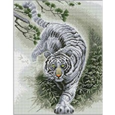 DIY 보석십자수 액자형 캔버스 동물 시리즈 40x50