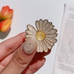 귀요미 미니 데이지 꽃 플라워 메탈 철제 헤어 집게핀 (5color)