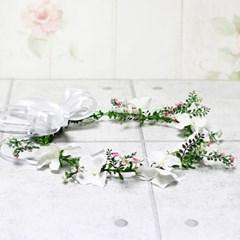 내추럴미니꽃앤-수국꽃잎화관