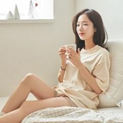 [유즈] 플레인 대방석 토퍼+삼각등쿠션 세트
