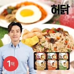[허닭] 닭가슴살 볶음밥도시락 250g 6종 1팩
