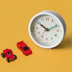 저소음 교육용 시계공부 탁상시계(화이트) 벽시계 겸용