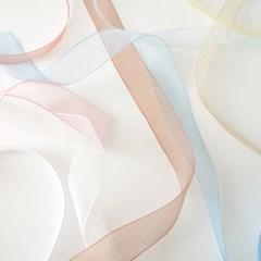 오간디리본끈 망사 리본(15mm/25mm) - 공예용 선물포장 (5YD)