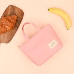 베이직 보온 보냉 파우치 5가지 색상 - 베이비 핑크