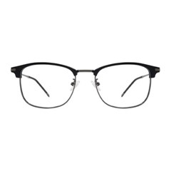Stowe BLACK DARK SILVER 스퀘어 하금테 안경
