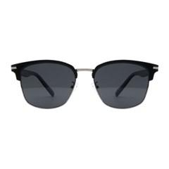 Solnit BLACK SILVER 오버사이즈 하금테 선글라스