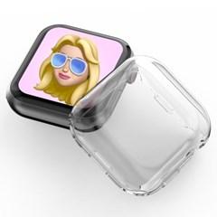 [누아트] 애플워치 풀커버 투명 클리어 충격보호 케이스