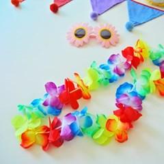 하와이안 꽃목걸이