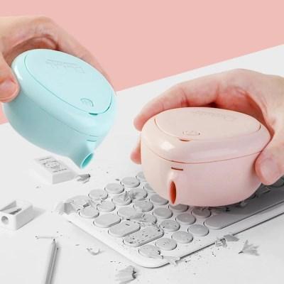 물방울 원터치 미니 데스크 청소기