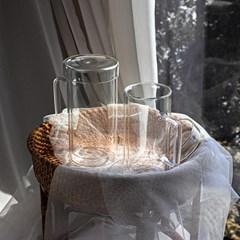 인블룸 이중유리 롱머그컵(뚜껑포함)