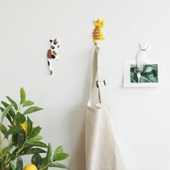 무타공 현관 냉장고 열쇠 마스크 고양이꼬리