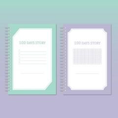 물가 100일 노트 (2종-Mint/ Violet) 100 DAYS STORY