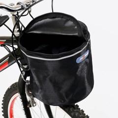 원통 핸들걸이식 자전거 바구니(23x38cm) (블랙)