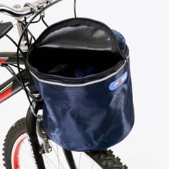 원통 핸들걸이식 자전거 바구니(23x38cm) (네이비)