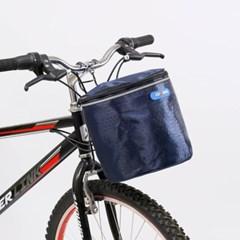 원통 핸들걸이식 자전거 바구니(23x32cm) (네이비)