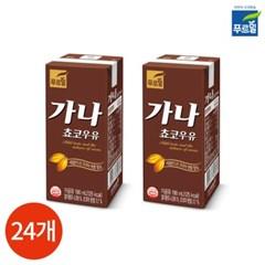 푸르밀 가나 초코우유 190ml x 24팩