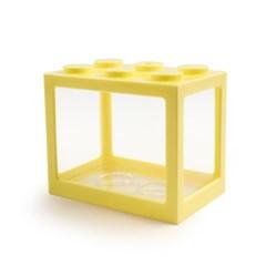 레고 박스 미니어항 (옐로우)/베타 어항/블록어항
