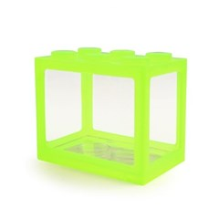레고 박스 미니어항 (형광그린)/베타 어항/블록어항