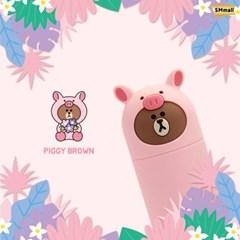 B&F브라운프렌즈 스틱보조배터리 5000mAh PIGGY BROWN