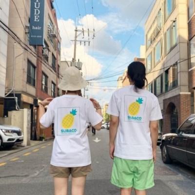 [수바코] 과일 반팔 티셔츠_파인애플