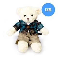 신체크후드 테디베어-남자곰(대형-화이트)