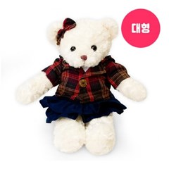 신체크후드 테디베어-여자곰(대형-화이트)