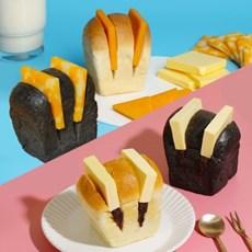 [서울브레드] 우유 앙버터 3개 + 먹물치즈식빵 3개 + 머그잔 세트