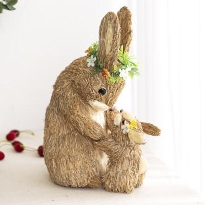 짚단 토끼 (엄마와 아기)