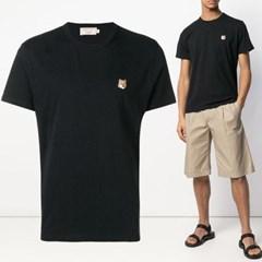 21FW 폭스 패치 티셔츠 블랙 AM00103KJ0008 BK