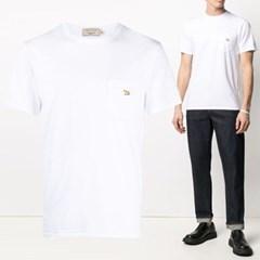 21FW 폭스 포켓 티셔츠 화이트 GM00116KJ0008 WH