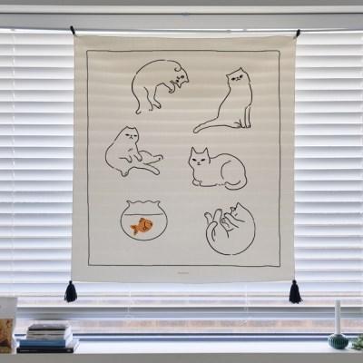 일러스트 패브릭 포스터 / 가리개 커튼_cats 01
