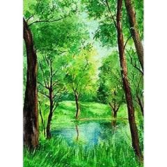 연두 초록이 숨쉬는 공간 (패브릭) 보석십자수 40x55