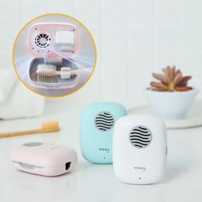 무선 휴대용 UVC LED 칫솔 살균기 +5분 건조기 2IN1 BLCD모터 충전식