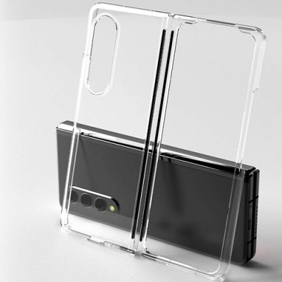 Z플립 폴더 2/3세대 투명앤컬러 하드 케이스