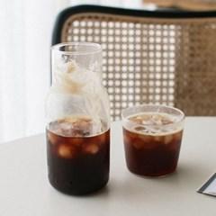 내열유리 컵&카라페 세트 2size 홈카페 카페 주스병