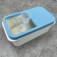 슬라이드 쌀통 10kg 보관용기 쌀독 잡곡통 사료통
