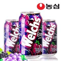 농심 웰치스 그레이프맛 355ml X24캔 /포도/음료수